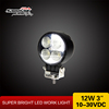 "Guangzhou Motorcycle Spare Parts 12W Round Small Lights Motor Accessories 3"" 12v Led Work Light"