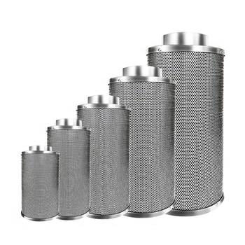 hydroponic carbon stainless steel metal carbon air filter with high quality