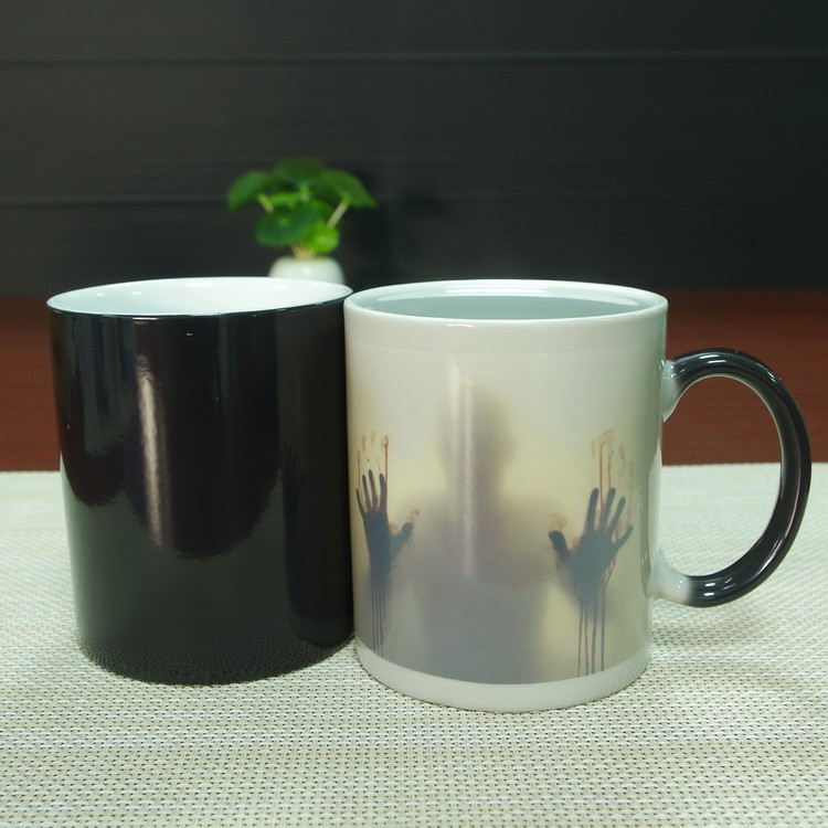 11oz magic color changing white ceramic wholesale sublimation mug