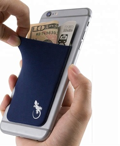 Phone Wallet Stick On Lycra Pocket for Carrying Credit Cards and Cash