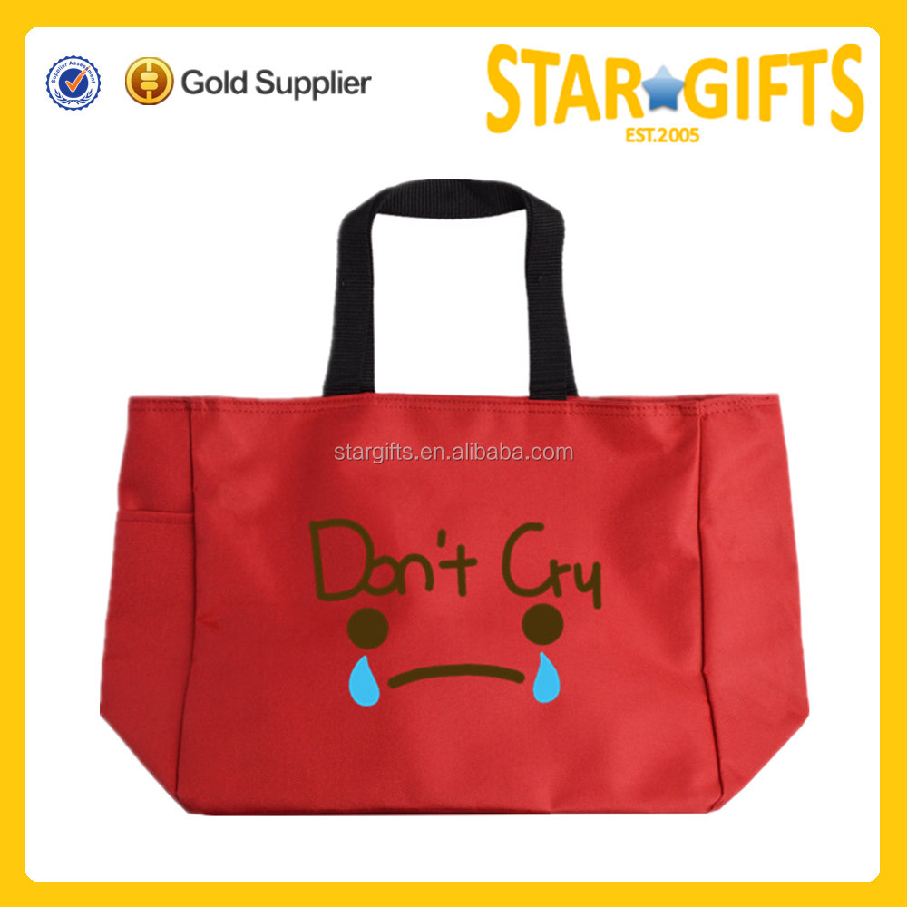 Alibaba China high quality red cute promotional bag for kids