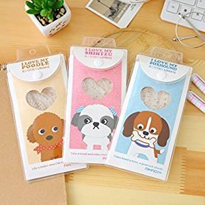 Katoot@ 4 pcs/lot Cartoon dog ruler set creative plastic straight ruler set korean stationery office school supplies canetas