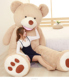 Wholesale 100cm - 340cm Huge Giant Large Teddy Bear Peluches for Gifts