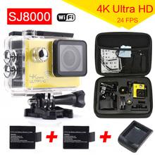 "gopro hero 4 Original SJ8000 WiFi Sports Action Camera 4K 24fps 30M Waterproof DVR 2.0"" LCD Diving Helmet Cam Car camcorder"