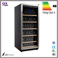 330L loading 110 bottles large size storage wine cabinet furniture shipped to Europe with DDP service