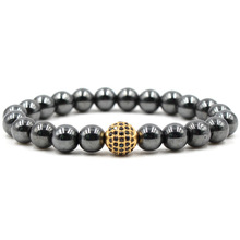 8 Mm Hitam Magnetic Hematite Bead Stretch <span class=keywords><strong>Gelang</strong></span> Micro Pave CZ Bola Pesona <span class=keywords><strong>Terapi</strong></span> <span class=keywords><strong>Magnet</strong></span> <span class=keywords><strong>Gelang</strong></span>