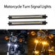 Flexible Switchback Dual-Color White and Amber Waterproof Adjustable Universal Fit LED Fork Strip DRL Running Turn Signal Light
