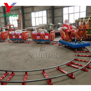 2019 New Product Outdoor Amusement Theme Park Rides Toy Electric Santa Christmas Mini Track Train Ride On Track For Sale