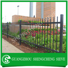 Popular selling black iron ornamental picket fence palisade fencing