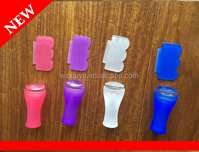NEW mini soft jelly silicone nail stamper in candy colors