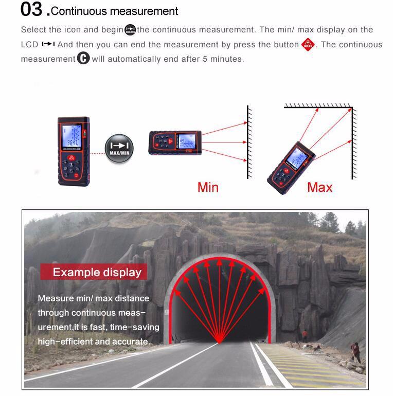Precision laser distance measurement buy digital rangefinder meter product on - Laser mesure distance ...