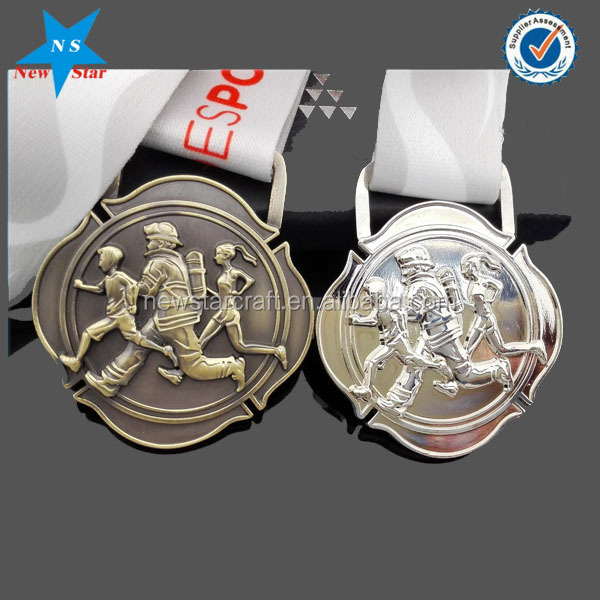 Martial  blank taekwondo Action medals and trophies with printing sticker