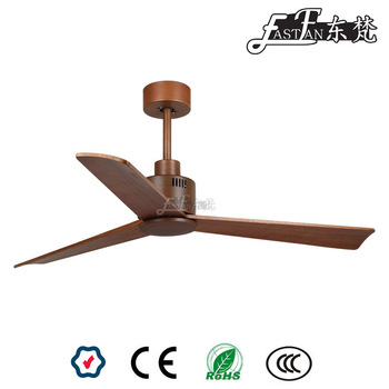 52 inch wood ceiling fan with natural wood blade / Home decoration ceiling fan / Interior design ceiling fans