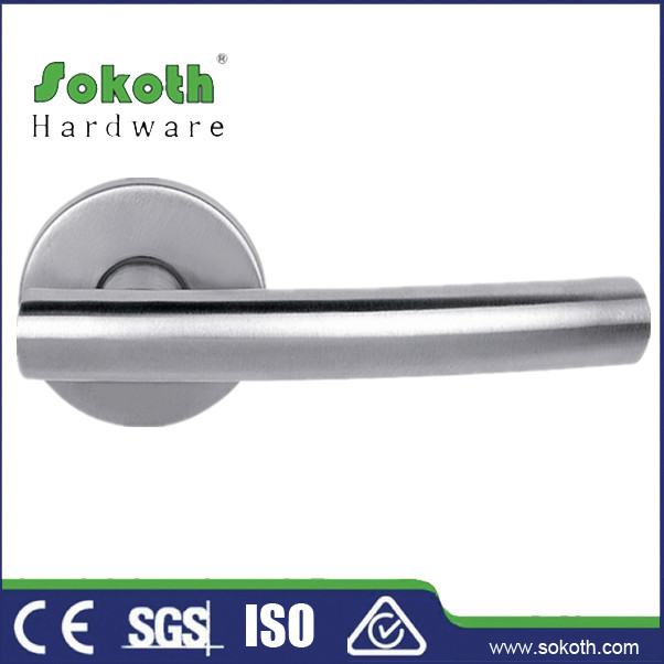 2014 Sokoth door hardware hollow brushed stainless steel door handles