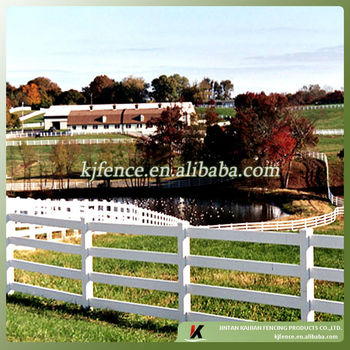 4 Rail White Plastic Horse Rail Fence Buy 4 Rail White