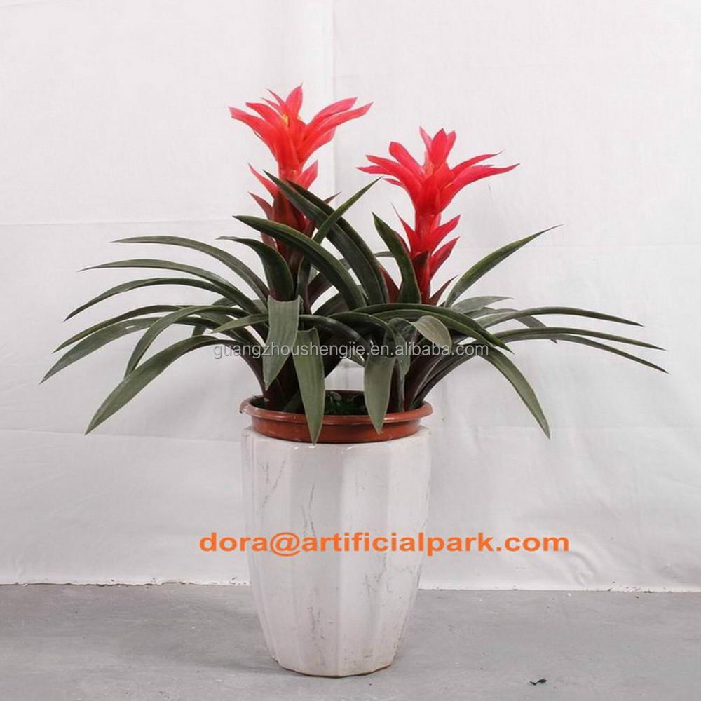 sjh010637 pas cher artificielle plantes plantes d 39 int rieur avec rouge fleurs plantes. Black Bedroom Furniture Sets. Home Design Ideas