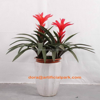 Sjh010637 Artificial Plants Indoor With Red Flowers Ornamental