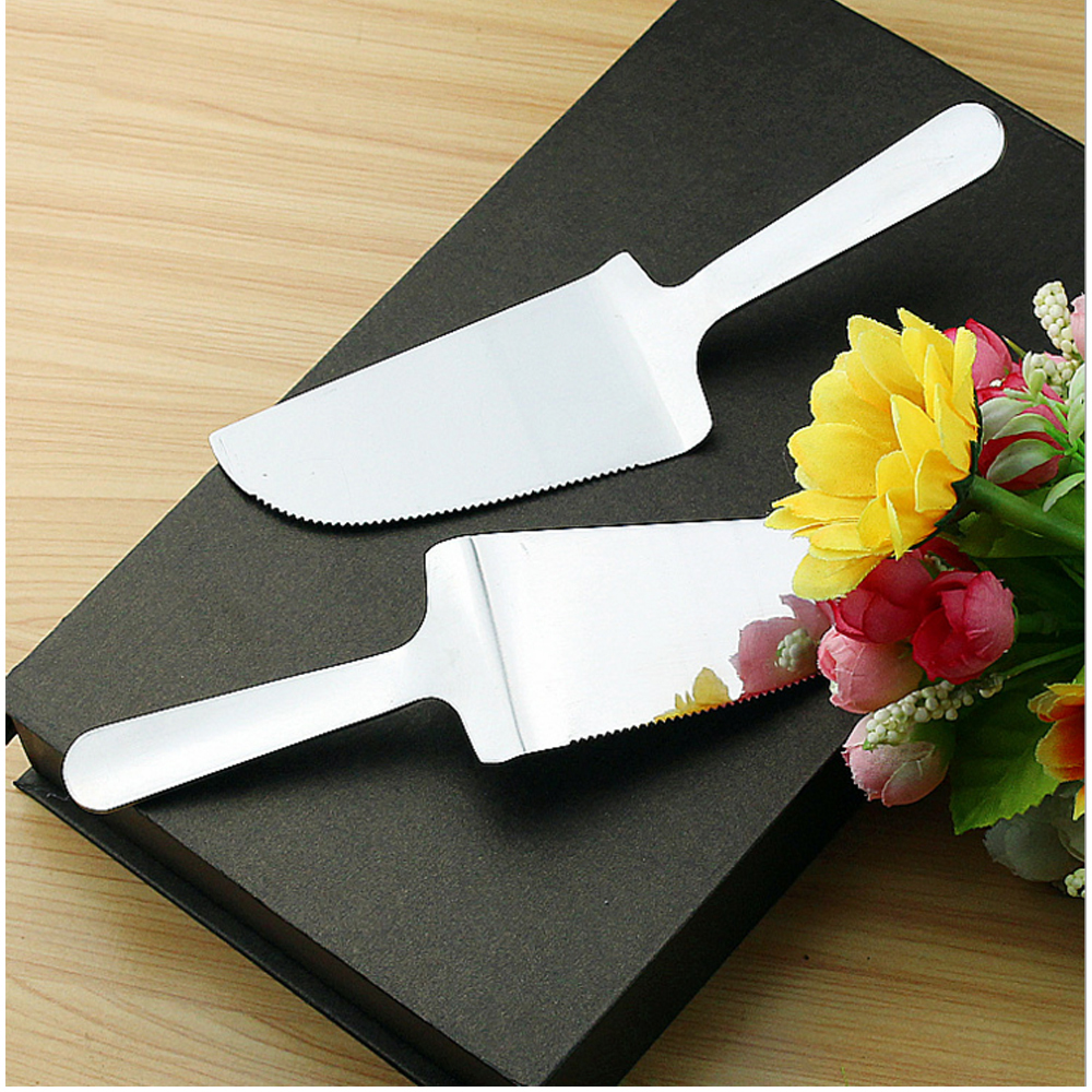 WB ZH1115 Top Grade Stainless Steel Wedding Party Cake Knife and Sever Set Health Pizza Cutting Gadgets