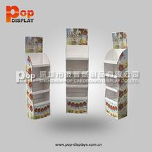 supermarket price sign card,4 tiers cardboard department store display racks,tissue retail cardboard stand floor display