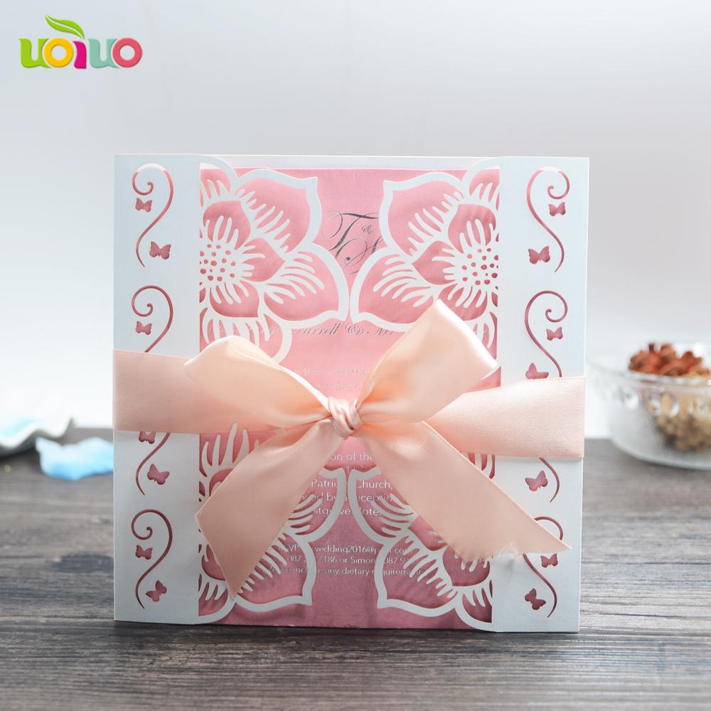 White Lace Muslim Wedding Invitation Card, White Lace Muslim Wedding ...