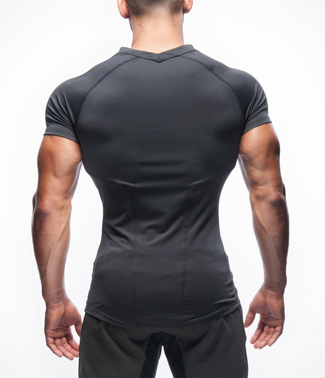 Men 39 S 90 Polyester 10 Spandex Dry Fit Muscle Gym T Shirt