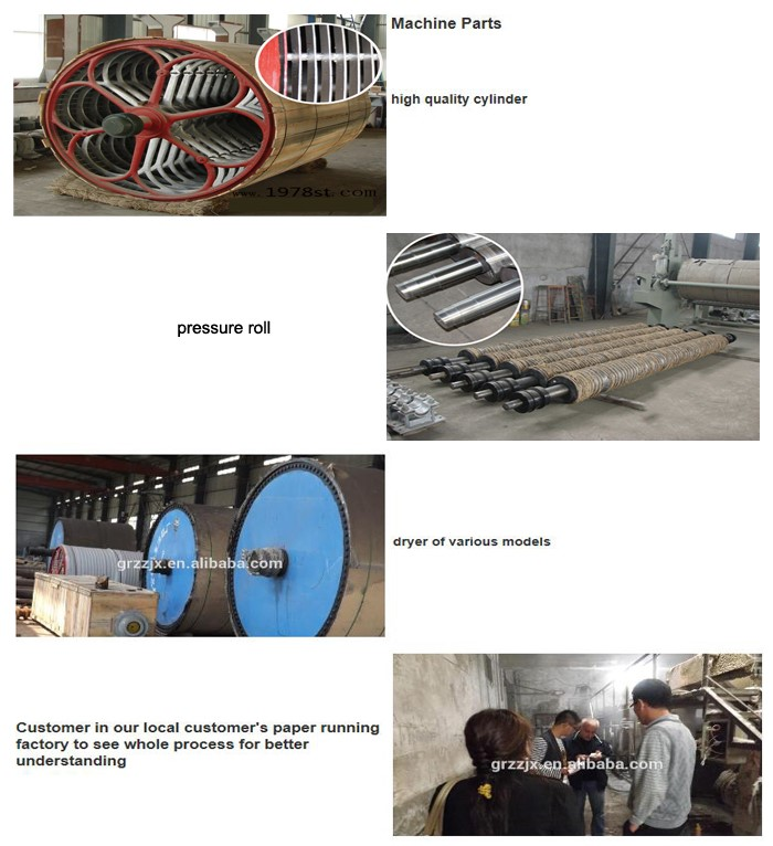 corrugated paper making equipment main parts
