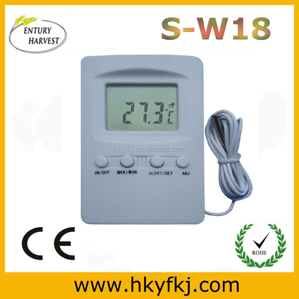 digital room thermometer Digital High Low Temperature Alarm Thermometer (S-W18)