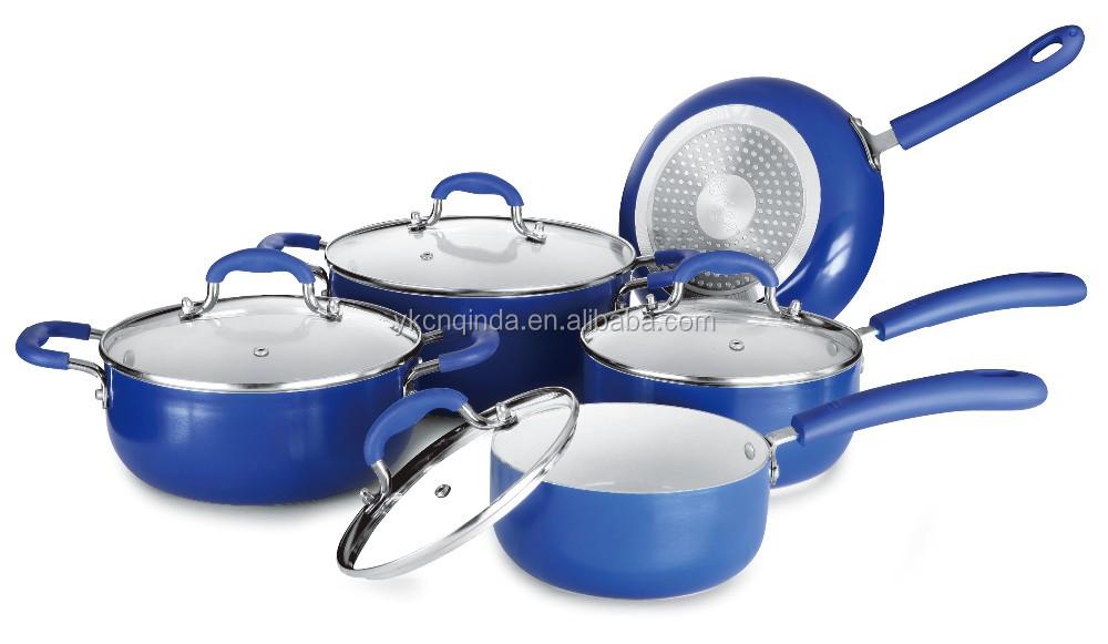 Press Aluminium Ceramic Cooking Pots And Pans Set