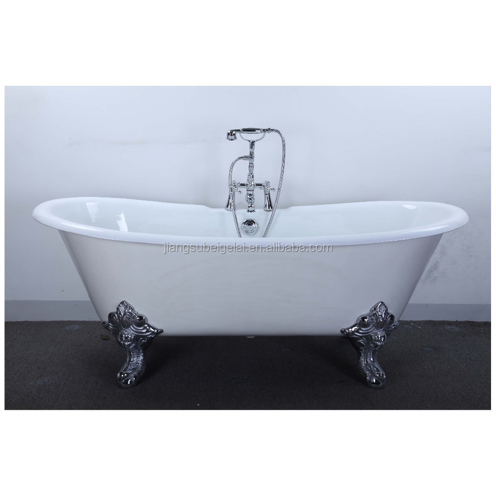 Vintage Bath And Tub With Big Clawfoot Made From Cast Iron - Buy ...