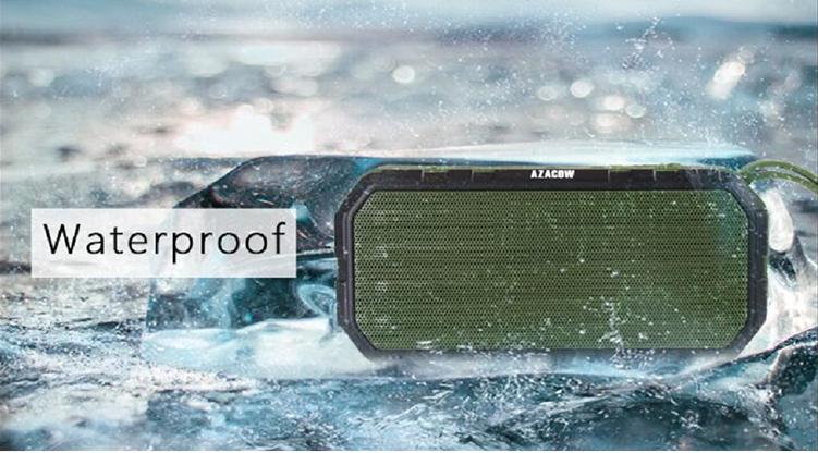 Portable bluetooth waterproof wireless subwoofer speaker with FM radio