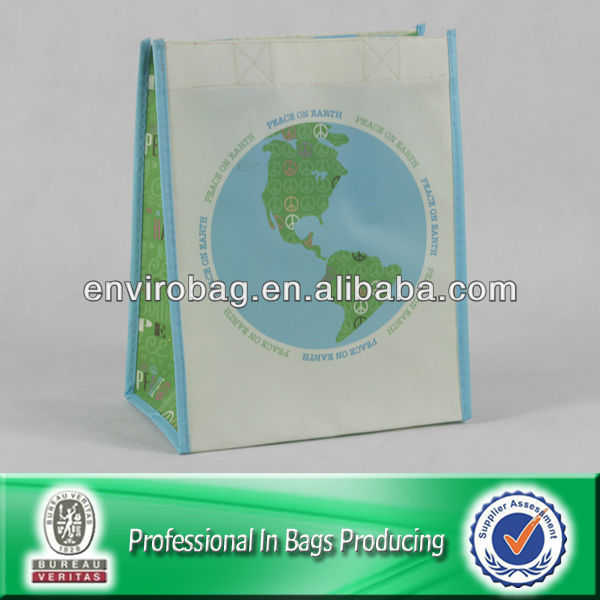 Delicate PP Peace On Earth Non Woven Promotion Bag