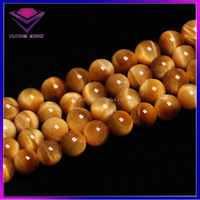 High Quality Natural Golden Yellow Tiger Eye Gemstones Loose Beads For Jewelry Making