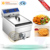 Factory directly CE approved chicken fryer machine, chicken deep fryer machine, chicken fryer
