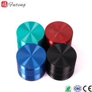 FT5893 Yiwu Futeng Hot Selling Quality 4 Pieces Metal Zinc alloy Tobacco Spice Herb Grinder