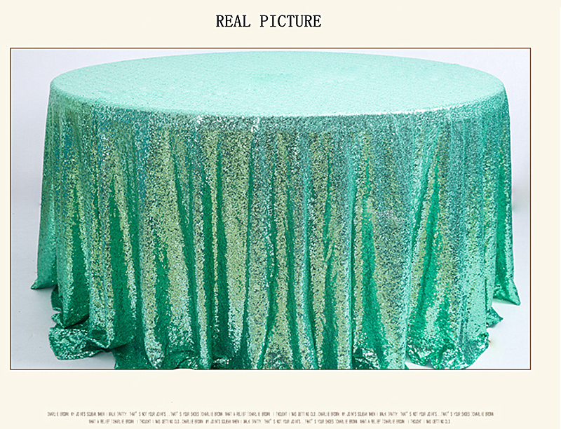 120cm Round Sparkly sliver Sequin Table Cloth Sequin Table Cloth, Cake Sequin Tablecloths, Sequin Linens for Wedding