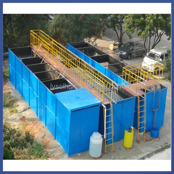 domestic wastewater treatment equipment with MBR treatment