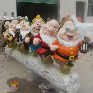 Outdoor Snow White and Seven Dwarfs Decortion