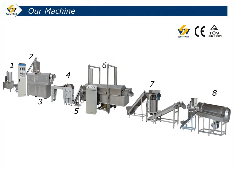 Factory supply fried snack equipment bugle chips production line