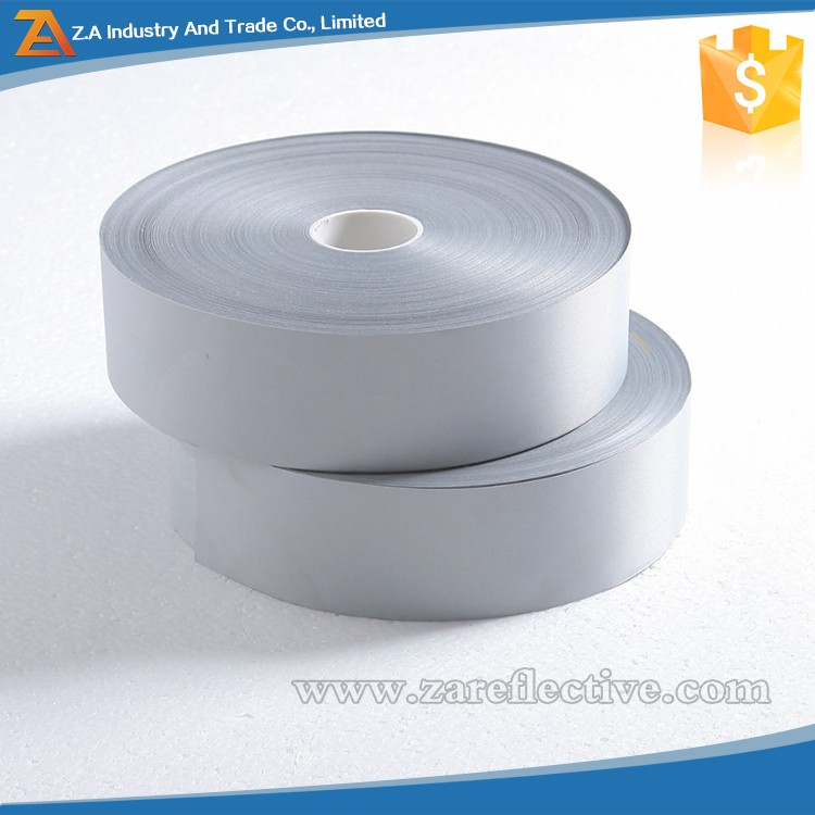 Silvery reflective fabric 100% Polyester Cheap reflective tape High visibility reflex materials