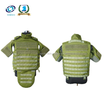 Full body armor bulletproof vest with groin protection