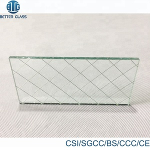 6mm 8mm wire reinforced laminated veranda wired glass