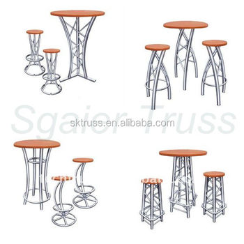 Aluminium Truss Bar Table And Stools,high Tables And Bar Stools,outdoor  Aluminum Bar