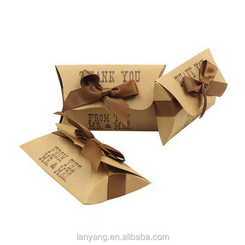 Pillow Boxes Medium Gift Card Holders Jewelry Packaging Diy Wedding