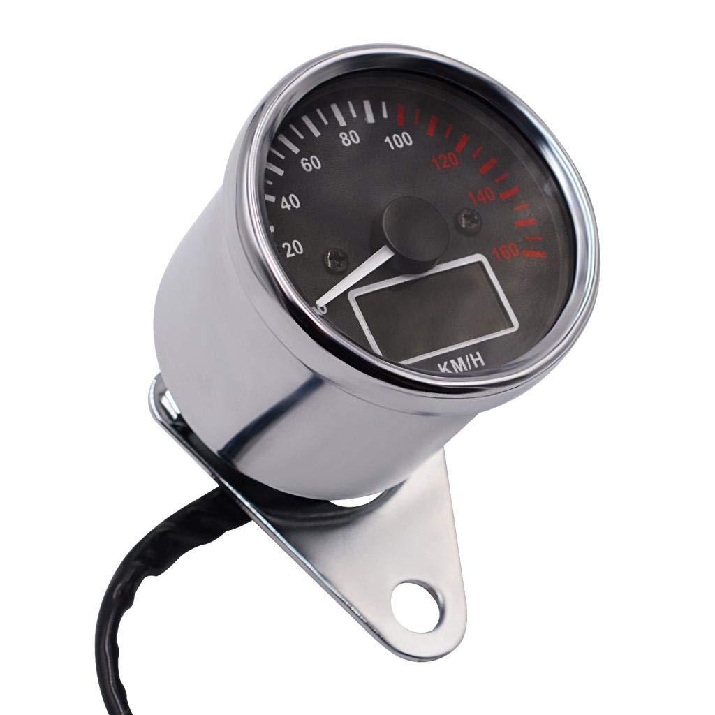 Buy Chrome Retro Motor Odometer Speedometer Gauge Cb Cafe