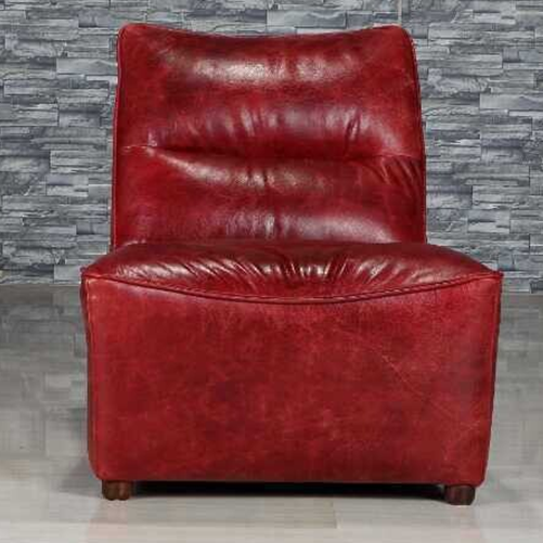 Wellington Retro Style Red Color Full Vintage Leather Sofa