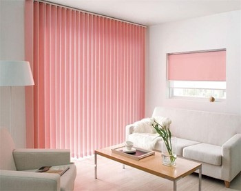 Red Fabric Motorized Folding Vertical Blind Buy Red