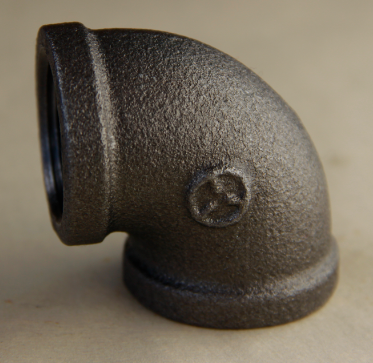 black malleable cast iron pipe fittings 90degree BS STANDARD pipe fitting elbow