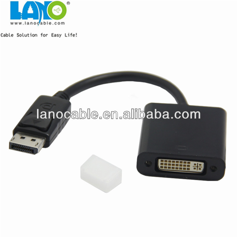 15cm 1.2 display port to dvi cable adapter