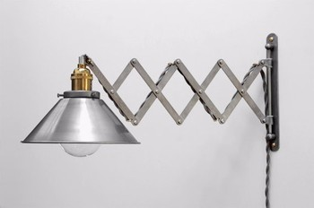 7.24 3 Scissor Lamp Industrial Style Spring Retractable Wall Sconce Wall