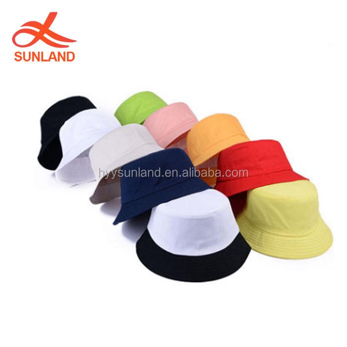 07e77d44f73 3884 new candy color plain orange cotton panama bucket hat men women fisherman  hat for summer